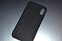 Чехол для iPhone X 10 силиконовый Soft Touch матовый черный