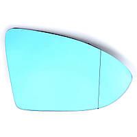 АвтоДверноекрылоЗеркальноестеклос тонированной синей крышкой с подогревом для VW Golf 7 GTI MK7 14-15
