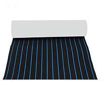 600x2300x5mm EVA Пена черная с голубыми линиями Лодка Напольное покрытие Faux Teak Decking Sheet Pad