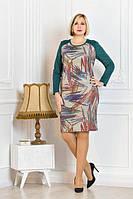 """Платье женское """"Малика"""" с замшевыми рукавами , фото 1"""