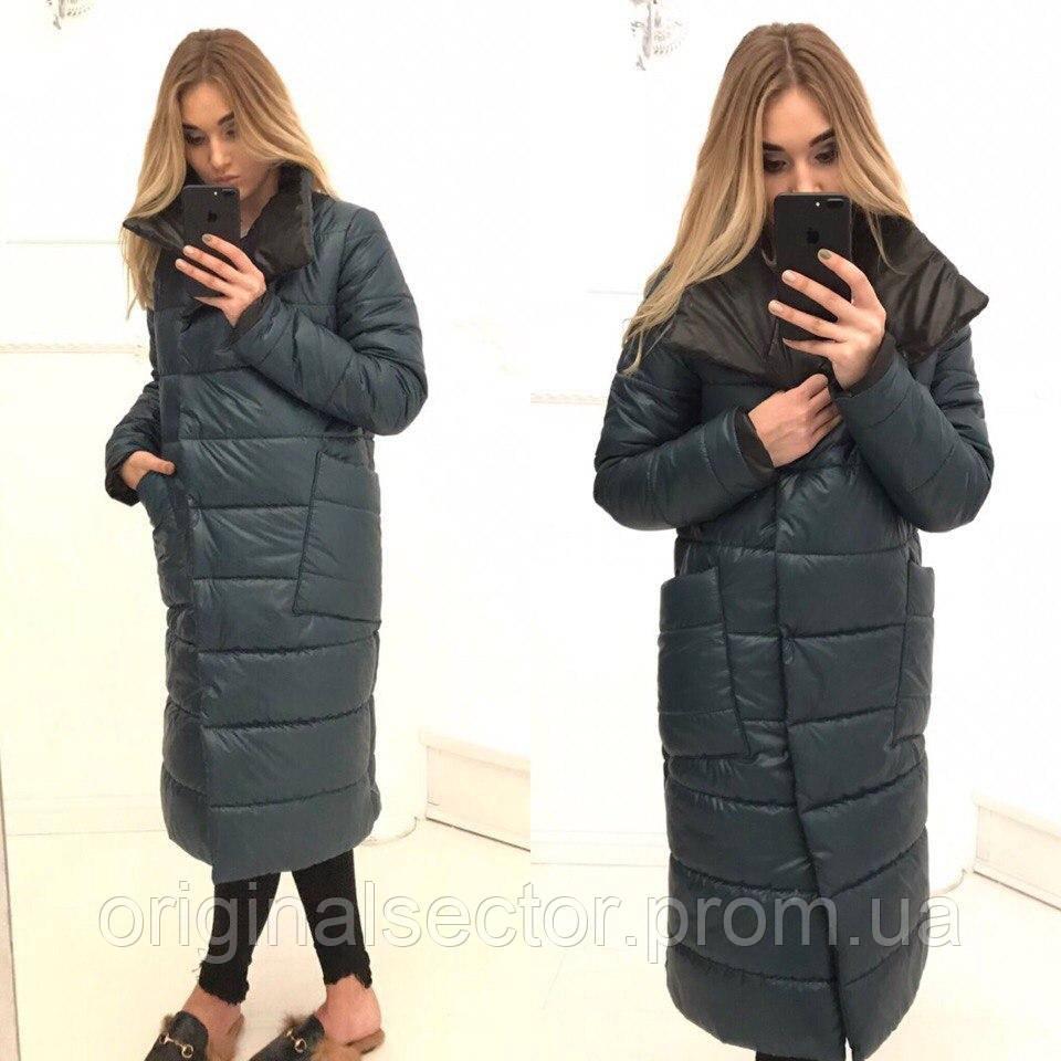 2e8958b63a8 Женское длинное пальто на синтепоне - интернет-магазин