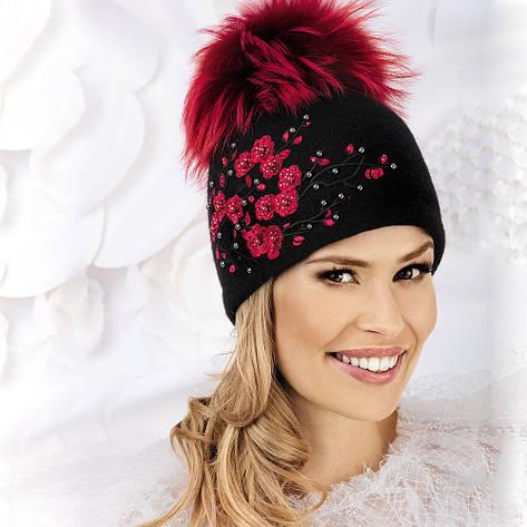 Женская шапка с яркими цветочками Dagnara от Willi Польша, фото 2