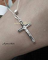 Серебряный крест с эмалью