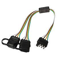 Адаптер жгута проводов Splitter для прицепа 2-полосный 4-контактный разъем Y-Split для задних камера Tailgate Light Bars