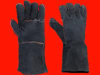 INTERTOOL SP-0157W Чёрные сварочные краги замшевые на подкладке