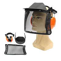 Защитный шлем Шапка для цепной пилы Щетка Защитный чехол для резака Маска
