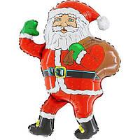 Шары воздушные фольгированные  67х85 см. Дед Мороз с мешком !