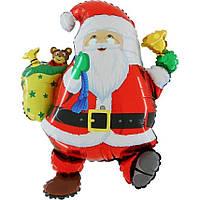 Шары воздушные фольгированные  75х83 см. Дед Мороз с подарками !