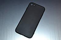 Чехол для iPhone 7 силиконовый Soft Touch матовый черный