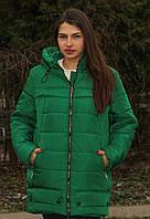Куртка женская тёплаязелёная