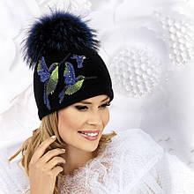 Женская шапка с аппликацией Canula от Willi Польша