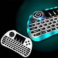 P9 Беспроводная мини Клавиатура с 7-цветной подсветкой 2.4G для Android TV коробки и ноутбука
