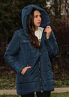Куртка жіноча тепла синя, фото 1