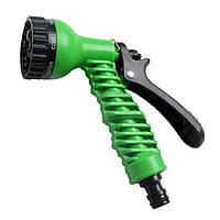 Садоводство 7-образный револьверный распылитель сопла Зеленый полив Многофункциональный шприц