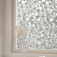 KCASA Z021 45cmX200cm Современный цветок Шаблон Стеклянные наклейки Ванная комната Балкон Раздвижные двери Матовые стекла 3D наклейки