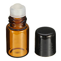 2 мл Пустой янтарный стеклянный рулон на бутылочном контейнере многоразового использования Ролик Ball Essential Масло Жидкая бутылка