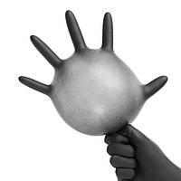 100шт Промышленный одноразовый нитрил Латекс Черный Перчатки Порошок Свободный M / L / XL
