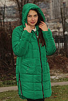 Куртка жіноча тепла зелена, фото 1