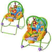 Детский шезлонг-качалка, дуга с 3-мя подвесками BAMBI BR 20887-1 HN