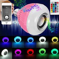 E27 12W RGB Wireless Bluetooth Динамик Музыка Светодиодный Лампа с Дистанционное Управление AC110-240V