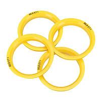 4шт.АвтоЦентробежныйцентробежныйстанок для колесных дисков Центробежные кольца 66,6 мм-57,1 мм для VW