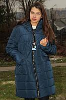 Куртка женская тёплаясиняя