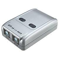 2 Port Usb 2.0 Автоматический переключатель общего доступа к принтеру HUB Селекторный переключатель для сканера принтера HM