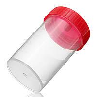 Практическая пластиковая чашка для образцов с мочой 60 мл EO Sterile Without Lable