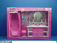 """Мебель """"Gloria"""" 94013GB (6шт) умывальник с зеркал и тумбой,ванна,унитаз,халат,аксесс,в кор.47*12*33"""