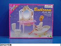 """Мебель """"Gloria"""" 2316(24 шт./2) ванна, умывальник с зеркал и тумбой,унитаз, в кор.28*21*7см"""