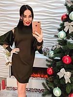 Платье-с объемными рукавами-производство Китай №01544 (ФК)