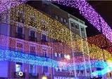 Уличная, фасадная гирлянда-бахрома  5х0.7 м., 172 LED, белая, синяя, желтая, разноцветная , фото 3