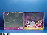 """Мебель """"Gloria"""" 9929GB (6шт) для детской,колыбель,комод,кресло-качалка,аксесс,в кор.37*18*33"""