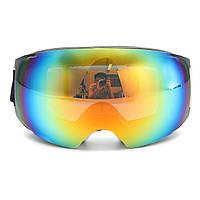Двойной Объектив Лыжные очки для сноуборда Магнит УФ-защита Анти Туманная белая рамка