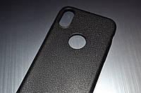 Чехол для iPhone X 10 силиконовый Soft Touch черный под кожу