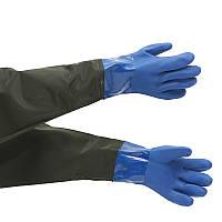 ПВХ Перчатки Химическая стойкая резиновая обработка Перчатки Химическая Рыбалка Рукавицы Безопасность Перчатки