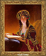 """Набор для вышивания ювелирным бисером №70815 """"Девушка с книгой"""""""