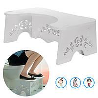 Non Slip Ванная комната Squatty Туалет стул Footstep Ванная комната Potty Squat помощи Запонки свай помощи