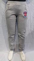 Трикотажные тёплые брюки светлые