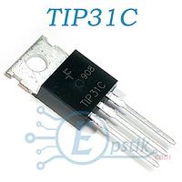 TIP31C, (КТ817Г), транзистор биполярный, NPN 100В 3А, TO220
