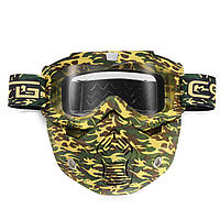Съемные модульные Маска Защитные очки для полного лица для мотоцикл шлема