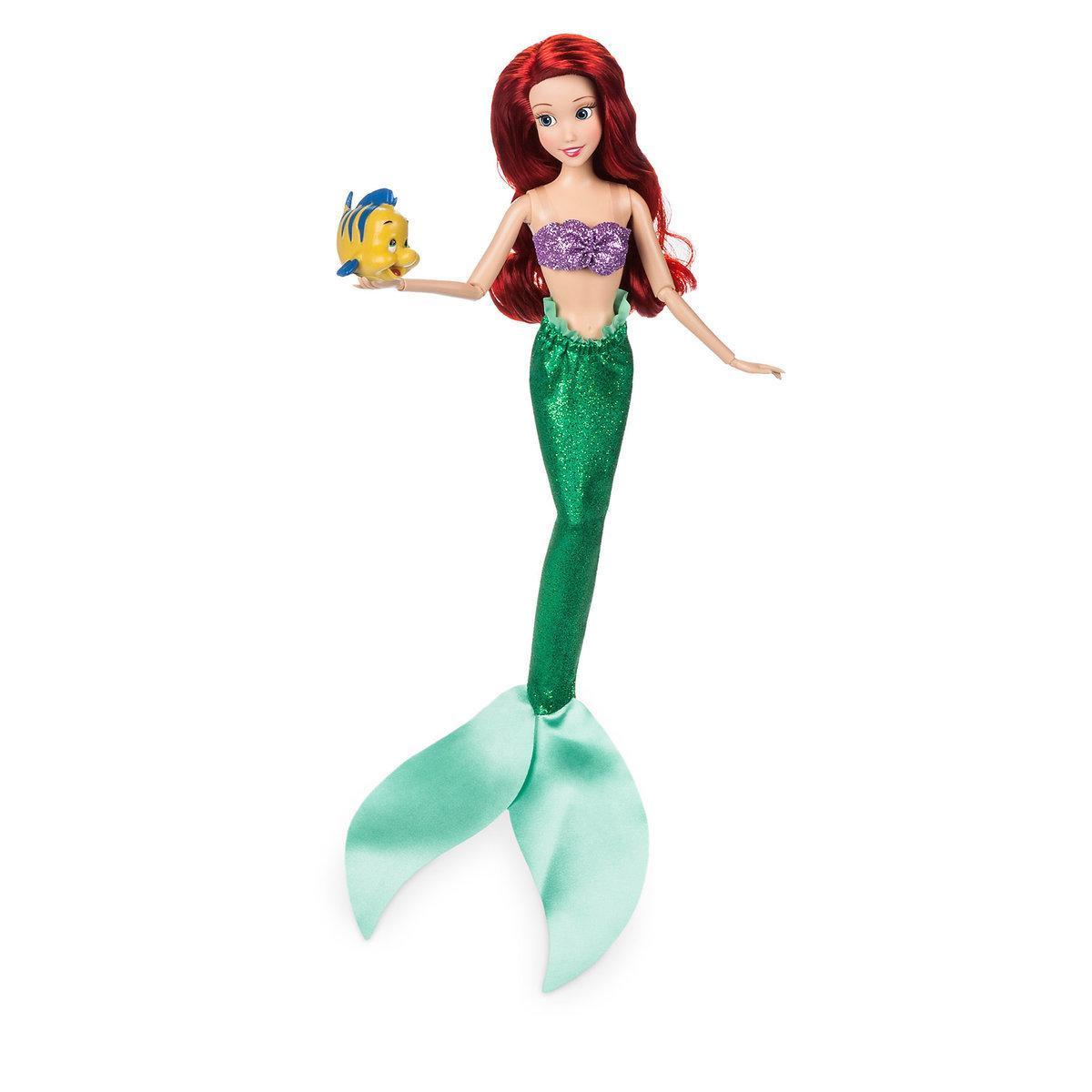 Disney Классическая кукла Принцесса Ариэль с рыбкой Флаундер - Русалоч