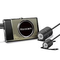 T21080PмотоциклВидеорегистраторВидеомагнитофонFHD Передний задний GPS G-сенсор Dual камера