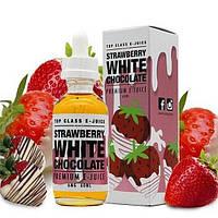 Премиум жидкость для электронных сигарет Top Class E-Juice Strawberry White Chocolate 60 ml (clone)