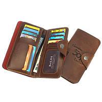 16слотовдлякартстремя складками Ретро кожаный металлический пряжкой Телефонный кошелек для телефона под 5,5-дюймовым