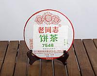 Китайский зелёный чай - Шен пуэр Хайвань Лао Тун Чжи 7548, 2017 г., 357 г