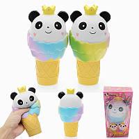 Vlampo Squishy Panda Ice Cream Jumbo 19см Медленный рост Оригинальная коллекция подарков