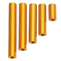 Suleve ™ M3AR6 M3 Стальные штыри из алюминиевого сплава 10-35-миллиметровые круглые доски для печатных плат 10шт.