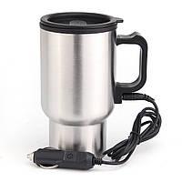 12V 450ml Нержавеющий чайник Авто Кухонная посуда Автоматическая электрическая Нагреватель с кабелем