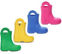 Сапоги резиновые детские Crocs Kids Handle It Rain Boot / дождевики с ручками